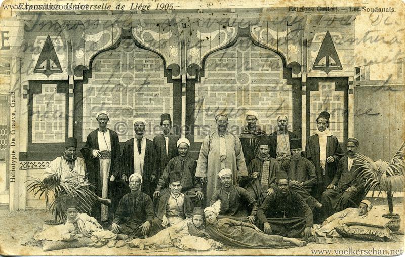 1905 Exposition de Liége - Extrème Orient - Les Soudanais