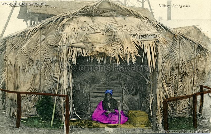 1905 Exposition de Liège - Village Sénégalais - Cordonnier V 1 bunt