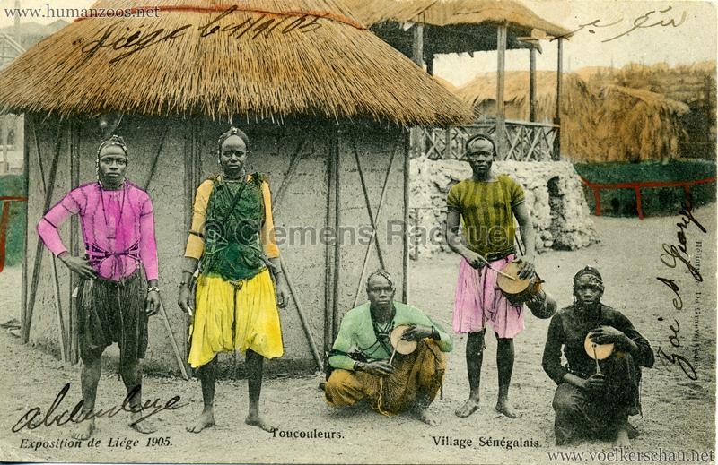 1905 Exposition de Liège - Village Sénégalais - Toucouleurs bunt