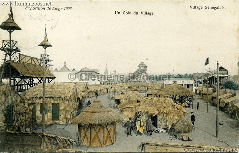 1905 Exposition de Liège - Village Sénégalais - Un Coin du Village 2 bunt