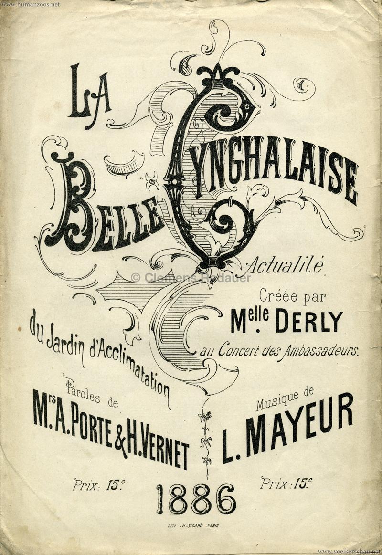 1886 La Belle Cynghalaise du Jardin d'Acclimatation 1
