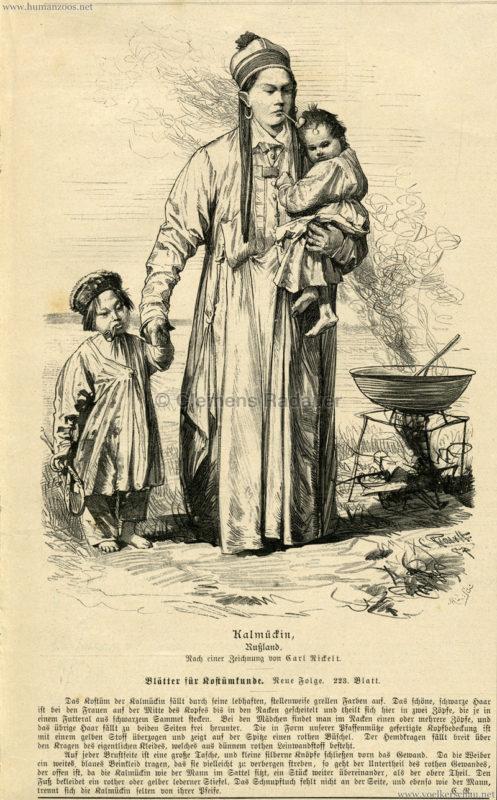 1888 Beiblatt zur Illustrirten Frauen=Zeitung - XV Jahrgang Nr. 2 - Die Kalmückin