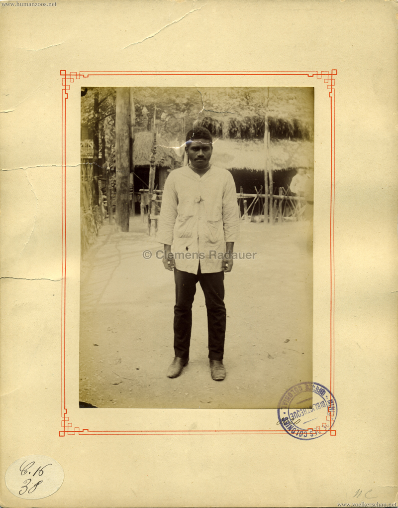1889 Exposition Universelle Paris - Canaque (Ministeres des Colonies)