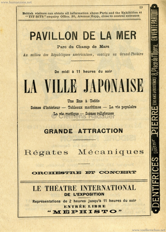 1889 Exposition Universelle Paris - Programme officiel - La Ville Japonaise
