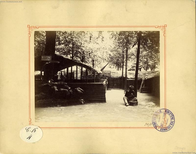 1889 Exposition Universelle Paris - Village Gabon-Congo (Ministeres des Colonies)