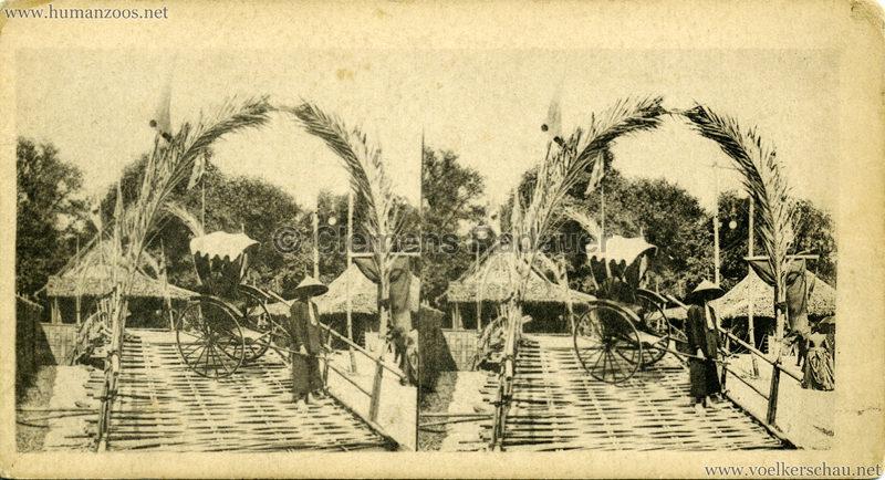 1889 Souvenir des merveilles de l'Exposition de 1889 - Pousse-Pousse Tonkinois