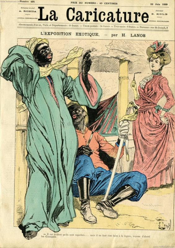 1889.06.22 La Caricature - L'Exposition Exotique 1