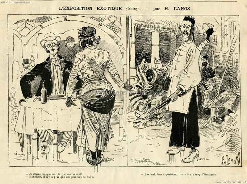 1889.06.22 La Caricature - L'Exposition Exotique 2