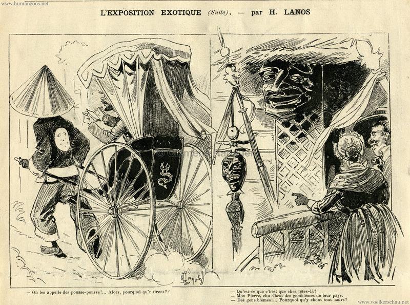 1889.06.22 La Caricature - L'Exposition Exotique 6