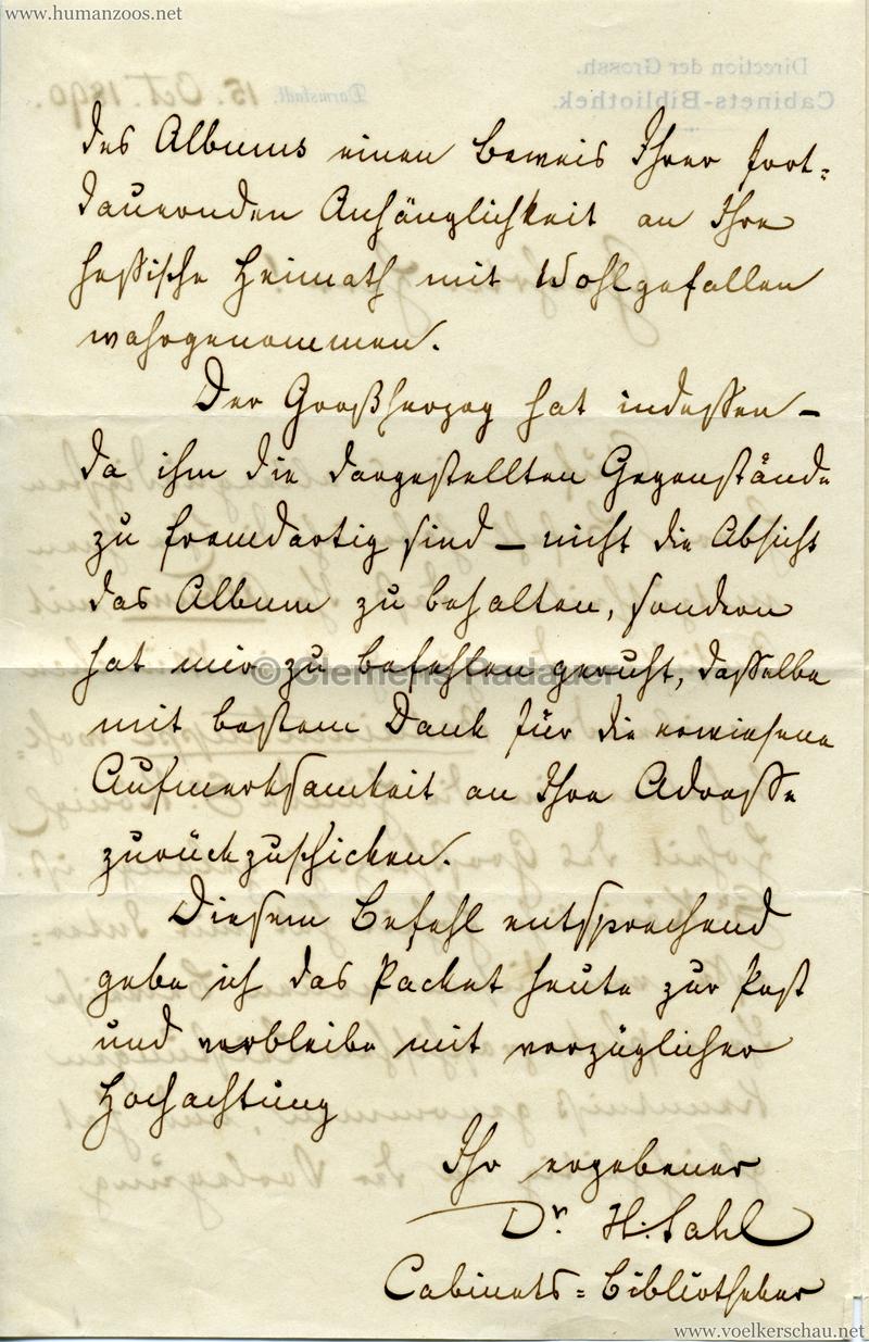 1890.10.15 Brief Beduinentruppe München 2