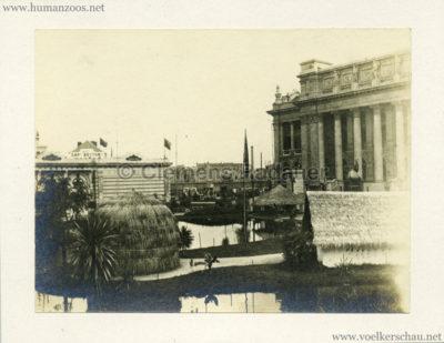 1894 Exposition Universelle d'Anvers - Congo vue du Village CDV 1 Detail