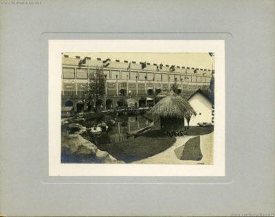 1894 Exposition Universelle d'Anvers - Congo vue du Village CDV 2