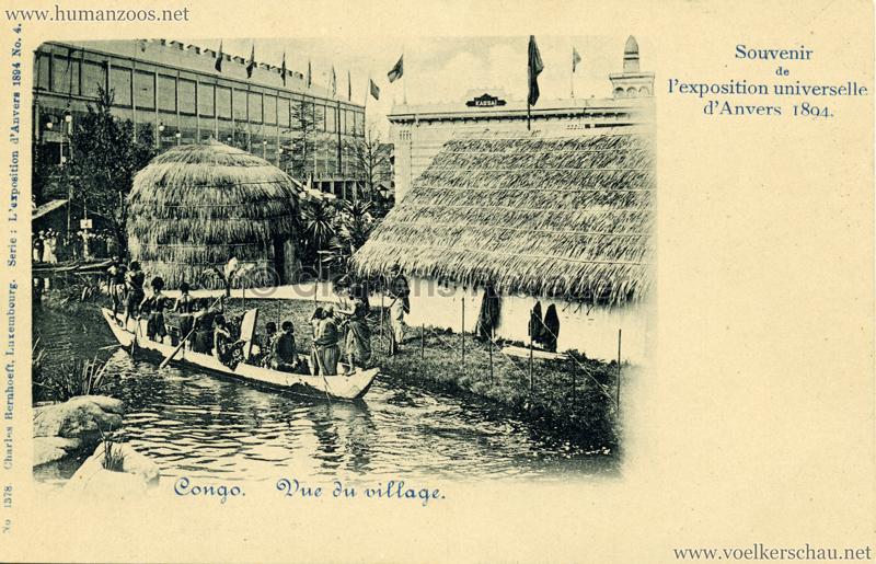 1894 Exposition Universelle d'Anvers - Congo vue du Village