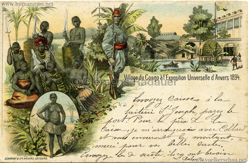 1894 Exposition Universelle d'Anvers - Village du Congo 2 gel. 04.03.1899