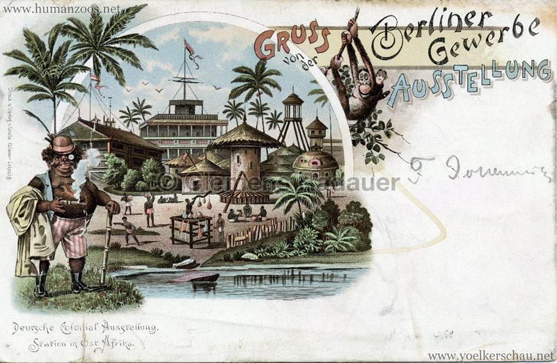 1896 Gewerbe Ausstellung Berlin - Deutsche Kolonialausstellung - Station in Ost-Afrika