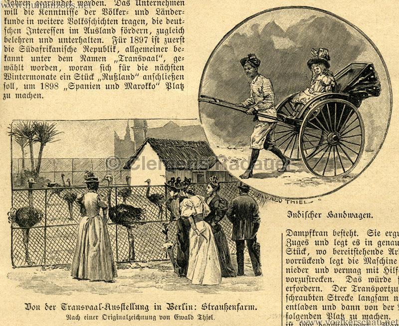 1897 Die Gartenlaube - Die Transvaal Ausstellung Detail 1