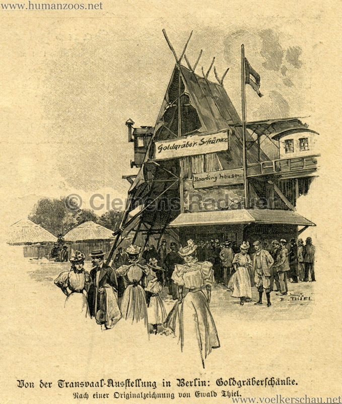 1897 Die Gartenlaube - Die Transvaal Ausstellung Detail 2