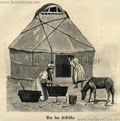 1897 Die Gartenlaube - Eine Kalmückenkarawane in Deutschland Detail 1