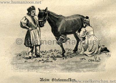 1897 Die Gartenlaube - Eine Kalmückenkarawane in Deutschland Detail 2