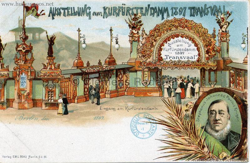 1897 Transvaal Ausstellung Berlin - Eingang am Kurfürstendamm