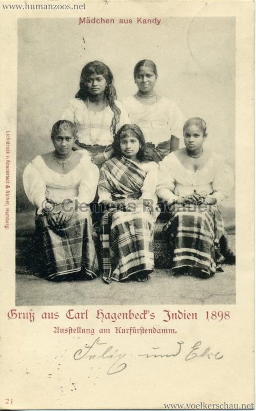 1898 Carl Hagenbeck's Indien - 21. Mädchen aus Kandy