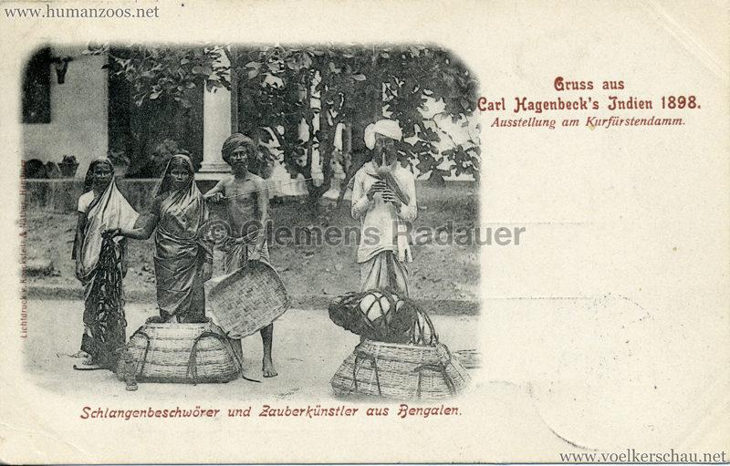 1898 Carl Hagenbeck's Indien - Schlangenbeschwörer und Zauberkünstler aus Bengalen