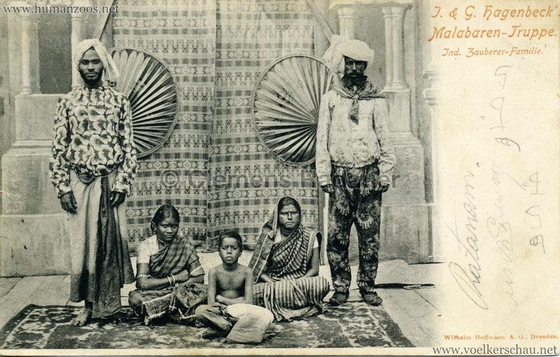 1900:1901 J. & G. Hagenbeck's Malabaren-Truppe - Ind Zauberer-Famlie
