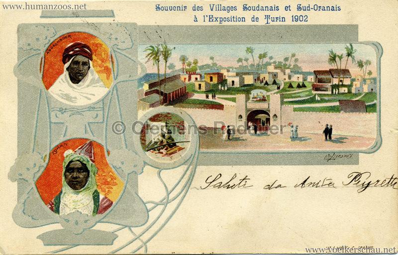 1902 Esposizione di Torino - Souvenir des Villagges Sudanais e Sud-Oranais