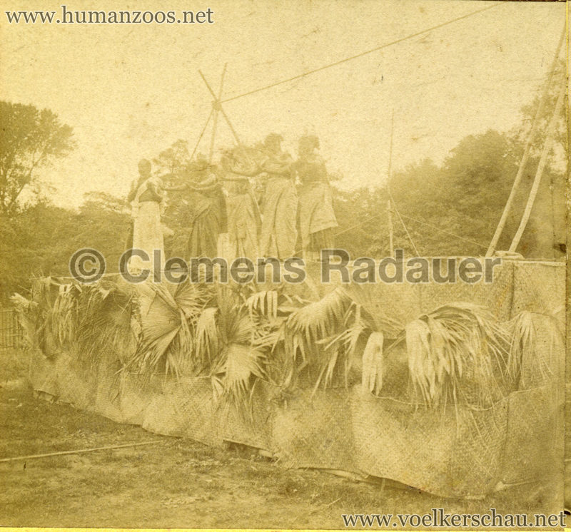 1902 Jardin Zoologique d'Acclimatation - Les Malabares - Femmes Malabares STEREOVIEW Detail