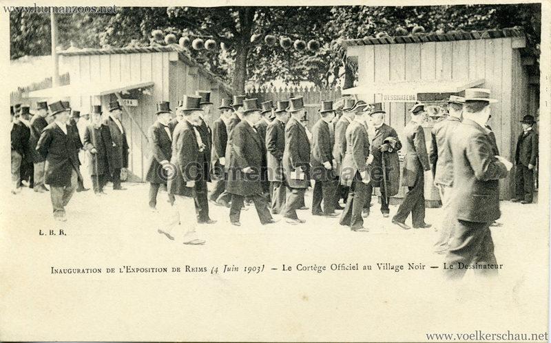 1903 Exposition de Reims - Inauguration de l'Exposition de Reims - Le Cortege Officiel au Village Noir