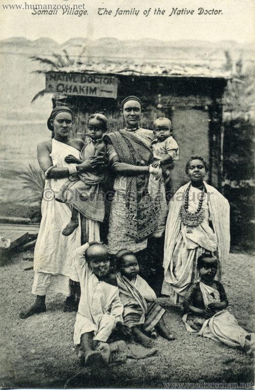 1904 Bradford Exhibition - Somali Village. The family of the Native Doctor 2