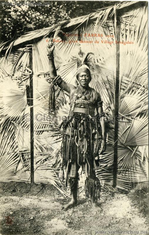 1904 Exposition d'Arras - 6.Sakoky griot danseur du Village Sénégalais