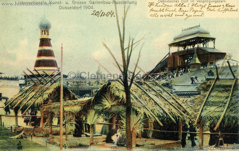 1904 Internationale Kunst- u. Gartenbau-Ausstellung Düsseldorf - Ostindisches Dorf im Vergnügungspark