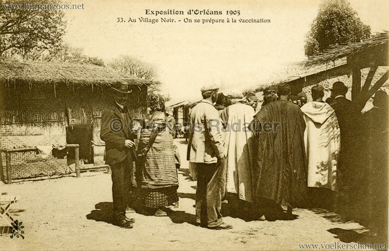 1905-exposition-dorleans-33-au-village-noir-on-se-prepare-a-la-vaccination