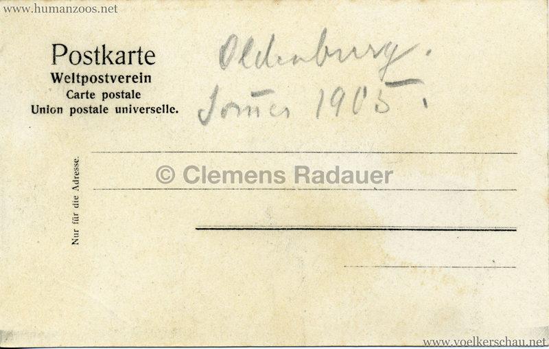 1905 - Jubiläumsausstellung Oldenburg - Abyssinisches Dorf 3 RS