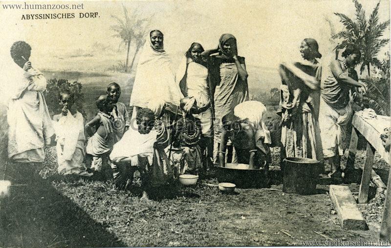 1905 - Jubiläumsausstellung Oldenburg - Abyssinisches Dorf 3 VS