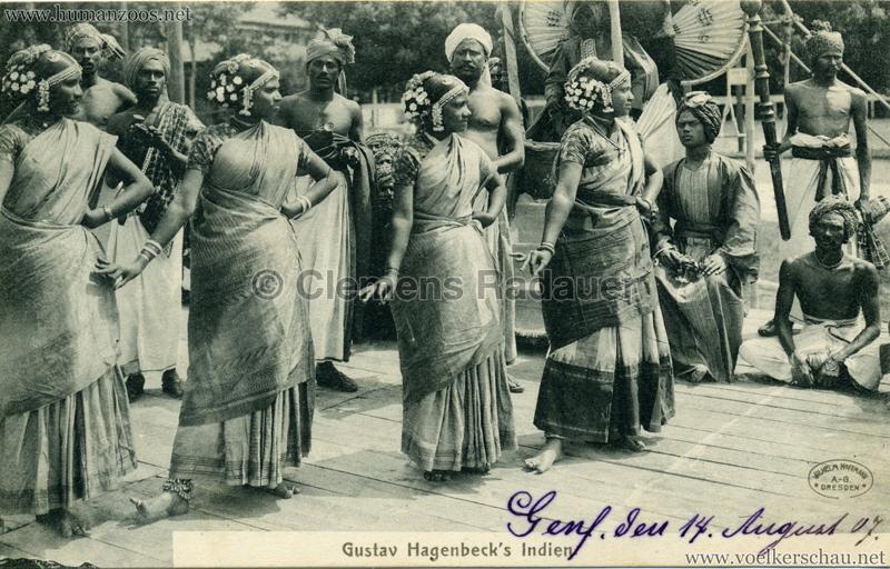 1905:1906 Gustav Hagenbecks Indien - Tänzerinnen VS