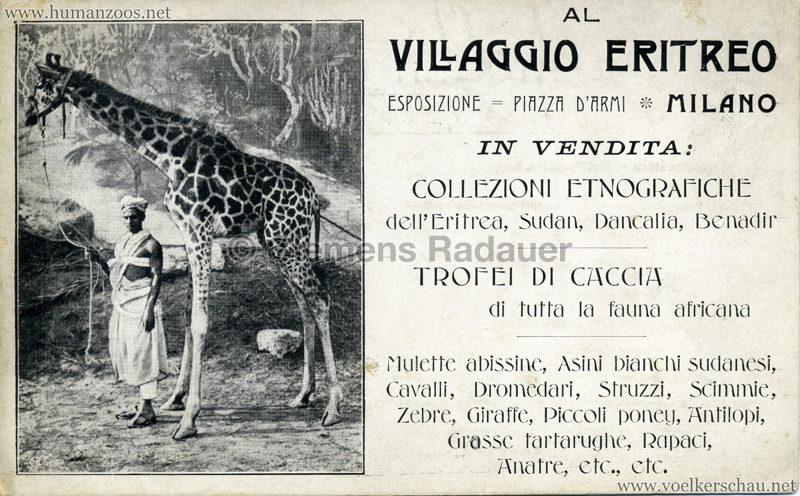 1906 Esposizione - Al Villaggio Eritreo