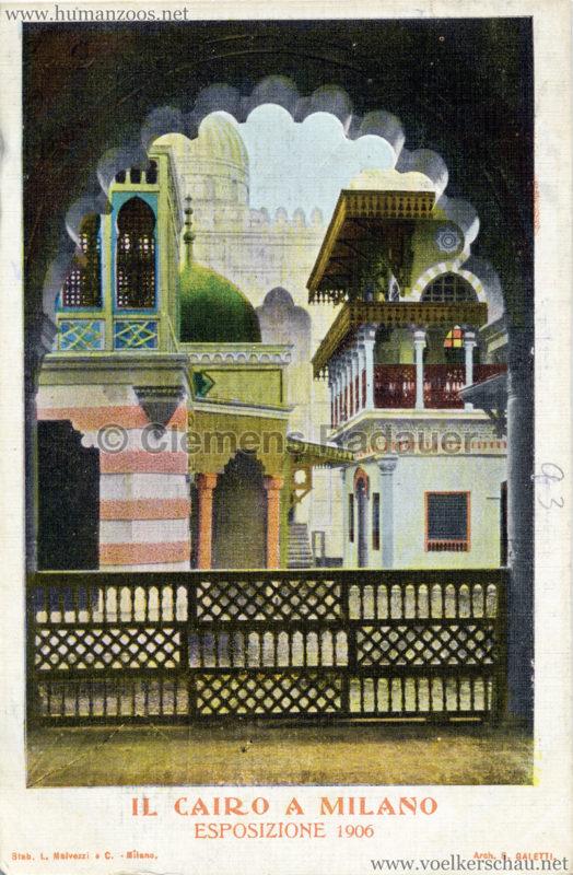 1906 Esposizione - Il Cairo a Milano - bunt 1