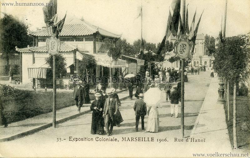 1906 Exposition Coloniale Marseille - 35. Rue d'Hanoi
