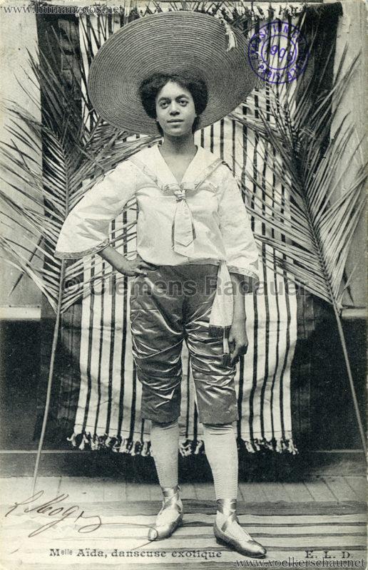 1906 Exposition Coloniale Paris - Mademoiselle Aida - danseuse exotique