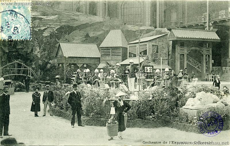 1906 Exposition Coloniale Paris - Village Noir - Orchestre de l'Exposition Coloniale