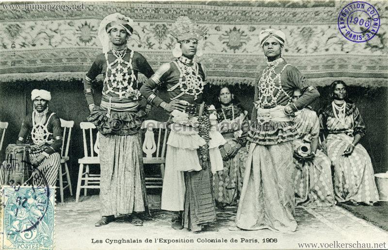 1906 Exposition Coloniale de Paris - Les Cynghalais