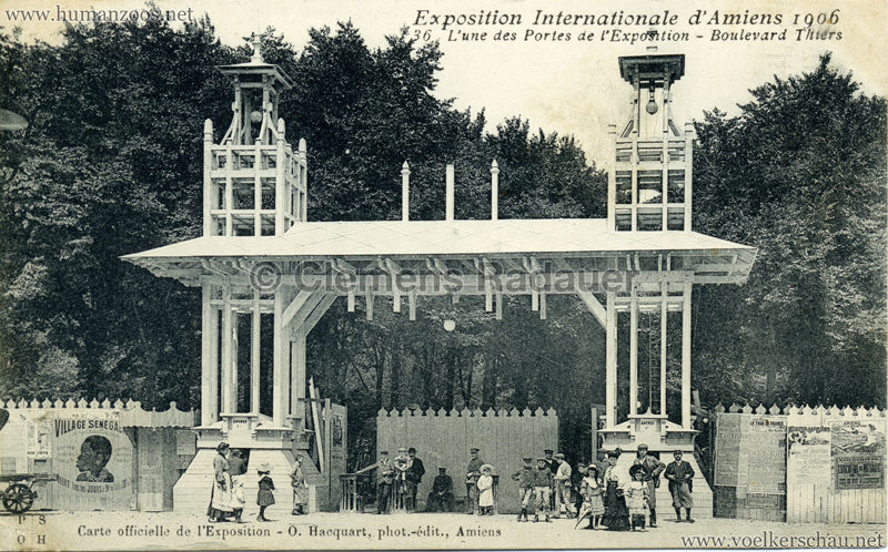 1906 Exposition Internationale d'Amiens - 36. L'une des Portes de l'Exposition
