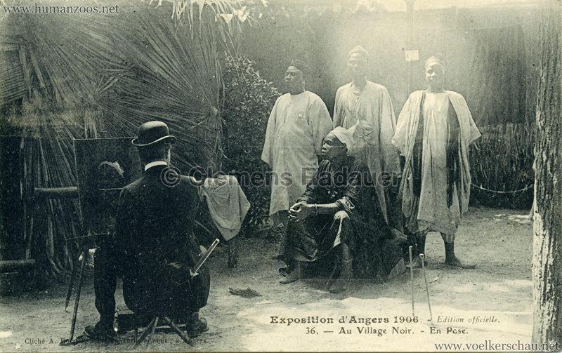 1906 Exposition d'Angers - 36. Village Noir - En Pose