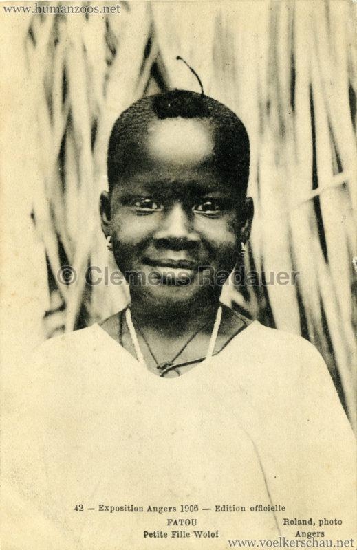 1906 Exposition d'Angers - 42. Fatou Petite Fille Wolof