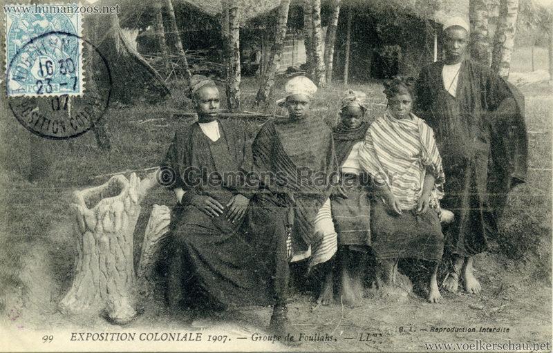1907 Exposition Coloniale Paris, Bois de Vincennes - 99. Groupe de Foullahs
