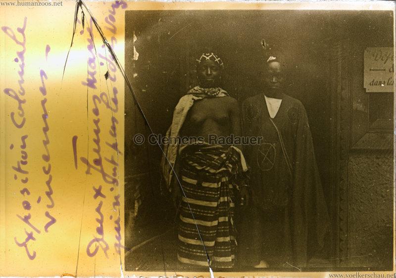 1907 Exposition Coloniale Paris, Bois de Vincennes - Verheiratetes Paar GLASSDIA