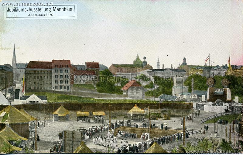 1907 Jubiläumsausstellung Mannheim - Abessinierdorf