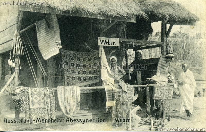 1907 Jubiläumsausstellung Mannheim - Abyssinisches Dorf